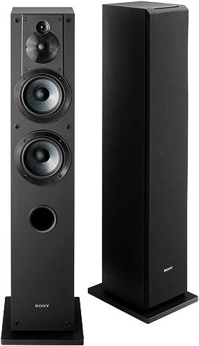 Sony SSCS3 3-Way Floor-Standing Speaker (Single) - Black