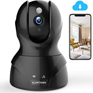 Wireless Security Camera with Two-way Audio - KAMTRON 1080P HD WiFi Security Surveillance IP Camera Home Baby Monitor with Motion Detection Night Vision, Black