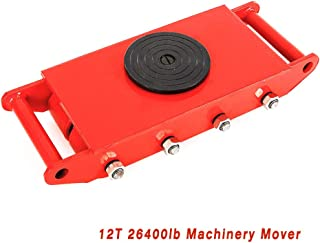 Machinery Mover, TBVECHI Heavy Duty 12T 26400lb Machine Dolly Skate Roller Machinery Mover Transport Tool 360 Rotation with 8 Rollers 27.5KG (US Stock) Red