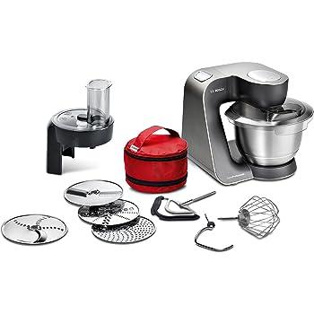 Bosch MUM59N26DE - Robot de cocina (3,9 L, Acero inoxidable, Botones, 4 discos, Acero inoxidable, 1000 W)