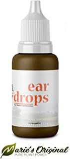 Natural Ear Drops for Ear Infection Prevention, Pain Relief, Swimmer's Ear – Homeopathic, Holistic, Vegan Herbal Eardrops for Adults, Children – Made in USA, Healthy, Safe for Kids