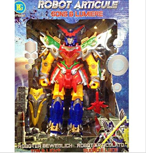 BG Robot ARTICULE 28 CM Son Lumiere 2 Armes Jouet