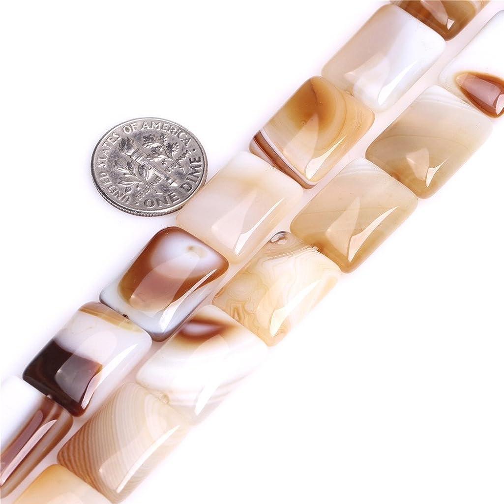 JOE FOREMAN 13x18mm Botswana Agate Semi Precious Gemstone Rectangle Loose Beads for Jewelry Making DIY Handmade Craft Supplies 15