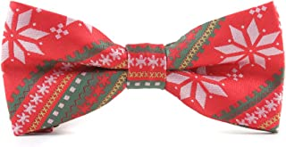 Classic Mens Bowtie Silk Bow Ties for Men Christmas Pattern Bowtie Pre-tied Bow Tie Xmas Gifts