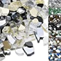 QuliMetal 1/2 Inch Fire Glass, Fire Glass Blended High Luster Reflective Tempered Glass Rocks for Indoor Outdoor Fireplaces, Fire Pit, Natural or Propane, Decorative Firepit Glass Pellets, 10 Pound