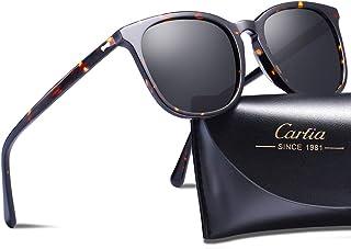 a320689ec6 Carfia Vintage Polarized Sunglasses for Women UV400 Protection Lens Acetate  Frame
