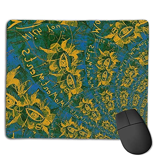 Alfombrilla de ratón Art Colorful Eyes con Bordes cosidos, Alfombrilla de ratón con Base Antideslizante, Adecuada para el Trabajo, los Juegos, la Oficina, el hogar, 25x30cm