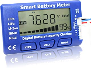 EYESKY 5-in-1 Battery Meter Intelligent Cell Meter Digital Battery Checker Battery Balancer for LiPo LiFePO4 Li-ion NiCd NiMH Battery Packs … (qa)