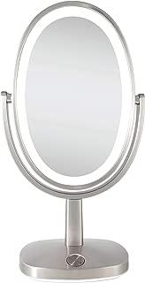 Zadro Newport Ultra Bright Adaptive Color LED Vanity Mirror 5X / 1X Satin Nickel