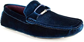 AFTER MIDNIGHT 6752 Velvet Driving Moccasin - Formal Driver with Braided Cord and Metal bit