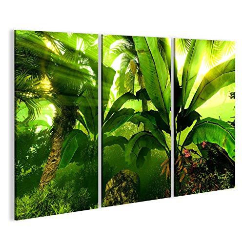 islandburner Bild auf Leinwand Morgennebel im dichten tropischen Regenwald Wandbild, Poster, Leinwandbild FIW