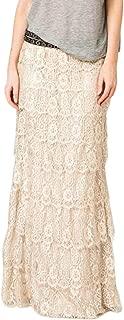 Boho Gypsy High Waisted Ruffles Long Maxi Tiered Skirt
