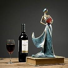HTTJJ Art Statue, Creative Folding Fan Personality Wine Rack, Wine Cabinet TV Cabinet Living Room Decoration, European Mod...