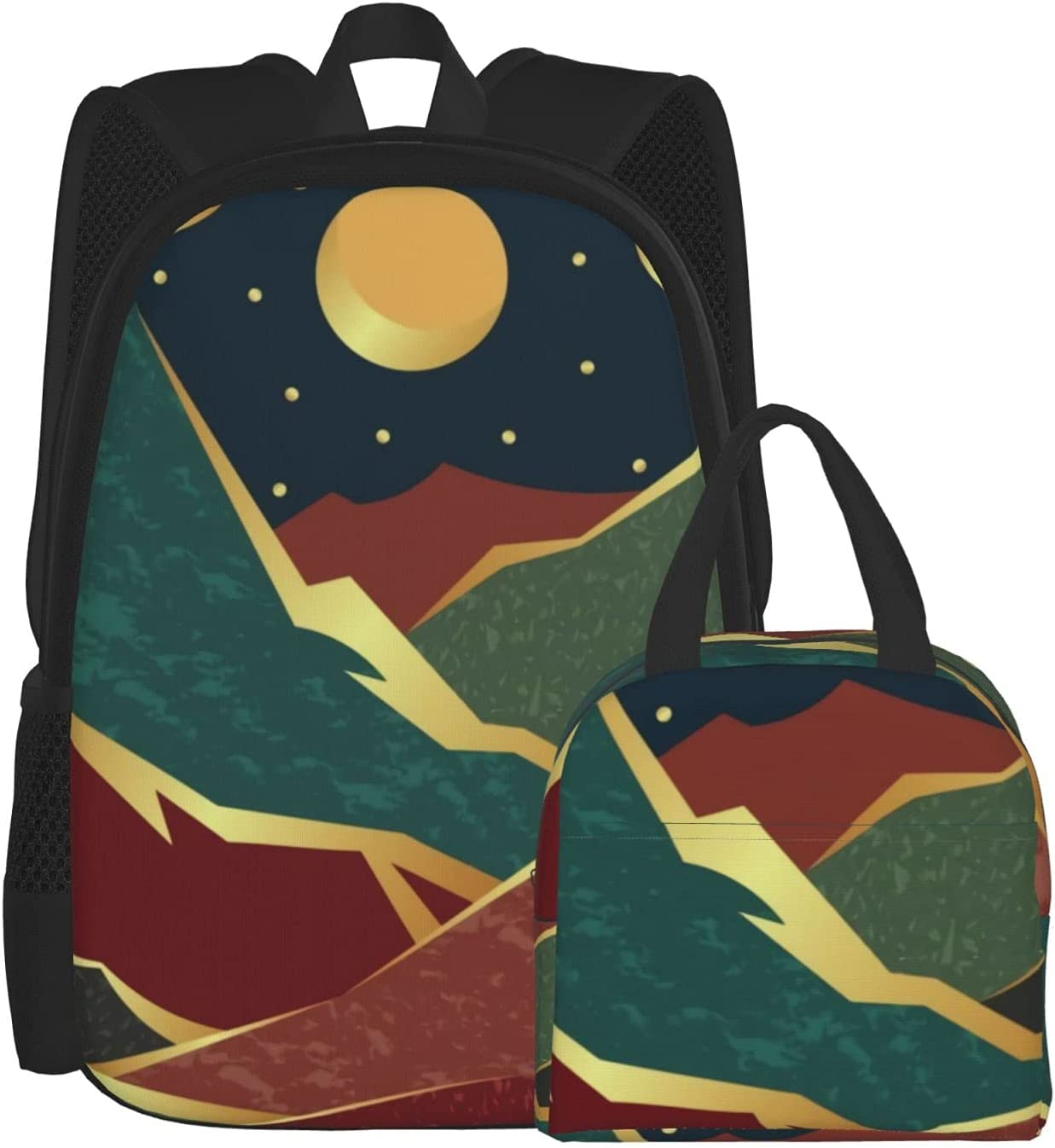 Backpack Lunch Bag Sets for Max 74% Limited time for free shipping OFF Boys Mountains Mo Golden Girls and