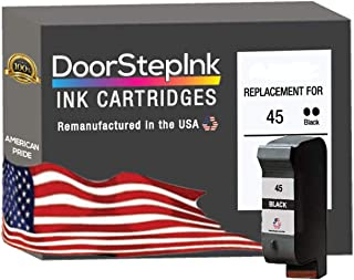 DoorStepInk Remanufactured in The USA Ink Cartridge Replacements for HP 45 51645 51645A Black for HP Printer Color Copier ...