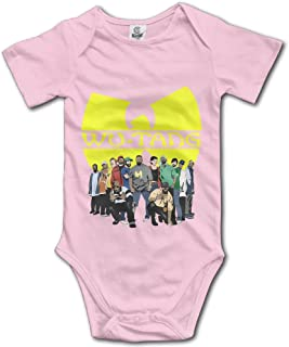 Wu Tang HIP-HOP Unisex Short Sleeve Pack Lightweight Bodysuits For Baby Boys/Girls