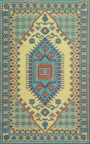 Mad Mat Oriental Turkish Indoor/Outdoor Reversible Floor Mat 4 by 6 Feet Plum