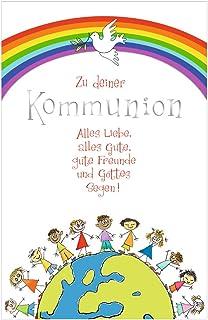 Susy Card 40024776 - Tarjeta de felicitación para comunión, Jesús y mujer, color Niños en el mundo bola