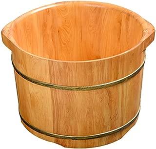 Qing MEI Foot Tub Solid Wood Barrel Home Cedar Barrel Foot Bath Massager Solid Wood Footbath A++