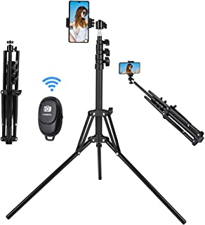 Selfie Stick Tripod, 63 inch Extendable Selfie Stick with Bluetooth Remote for iPhone & Android Phone, Camera, Gopro and M...