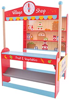 Bigjigs Toys Wooden Grocery Store - Pretend Play and Role Play Toys