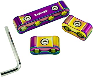 3pc piece NEO CHROME Billet Aluminum Spark Plug Cables Separators Dividers Organizers Holders Kit Set for MSD Ignition Magnecor Taylor Accel Moroso Revtech GM Performance DUI Wires
