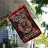 Tamengi Firefighter Skull 6 pies atrás I Am The Storm Bandera, bandera de paz de jardín, bandera de la casa, bandera de la paz de la granja, decoración rústica del campo, decoración de patio