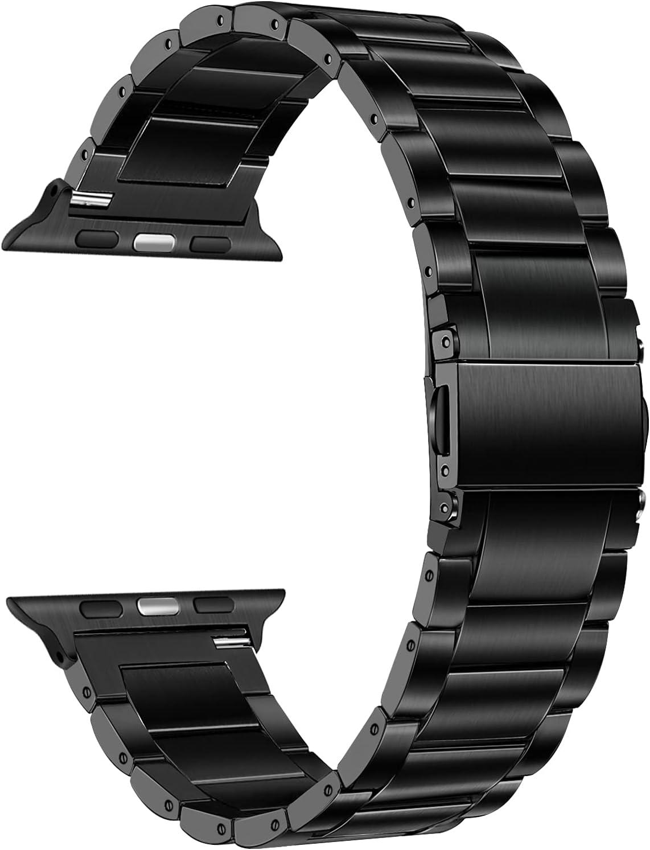 Titanium Band for Apple Watch Series 6 / SE 44mm 42mm, TRUMiRR Titanium Steel Metal Watchband Men Replacement Strap for iWatch Apple Watch SE Series 6 5 4 3 2 1 44mm 42mm