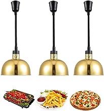 CHOUREN 3 Pack réglable lampe de chaleur Warmers commerciaux Buffet for les Parties Restauration, chauffage Isolation téle...