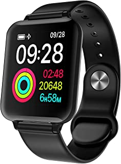 AUKUK スマートウォッチ スマートブレスレット 歩数計 睡眠検測 消費カロリー 電話着信通知 アプリ通知 音楽制御 カメラ遠隔操作タッチ操作 IP67防水 iOS/Android対応