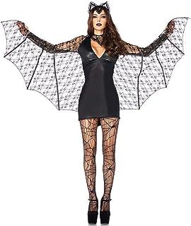 c733f3efeddc WWAVE Lencería de Malla Sexy Mujer murciélago Vestido de Negro Cosplay lencería  Europea Uniforme de Juego