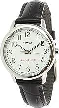 Timex Women's Easy Reader TW2R65300 Silver Crocodile Leather Quartz Dress Watch