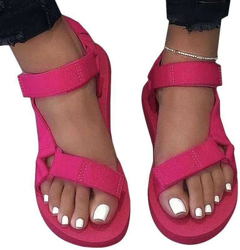 Small Flat Sandals,Women Flat Wedges Platform Slide Sandals Ankle Strap Criss Cross Slide-on Open Comfy Summer Slippers Casual Shoes