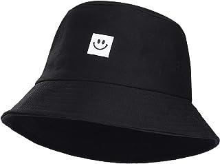 MaoXinTek Cappello Pescatore Pieghevole Cotone Bucket Hat Faccina Cappello da Sole Traspirante per Spiaggia all'aperto 56-...