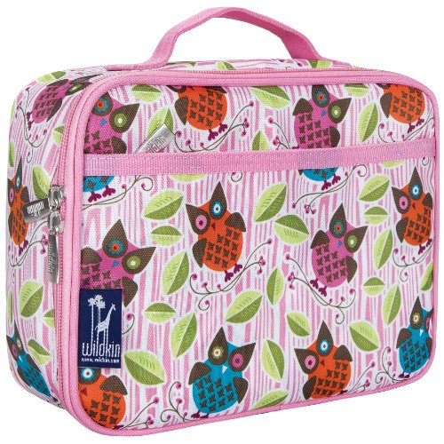 Wildkin Kids Insulated Lunch Box Bag for Boys and Girls, Perfect Size for Packing Hot or Cold Snacks for School & Travel, Measures 9.75 x 7.5 x 3.25 Inches, Mom's Choice Award Winner (Owls)