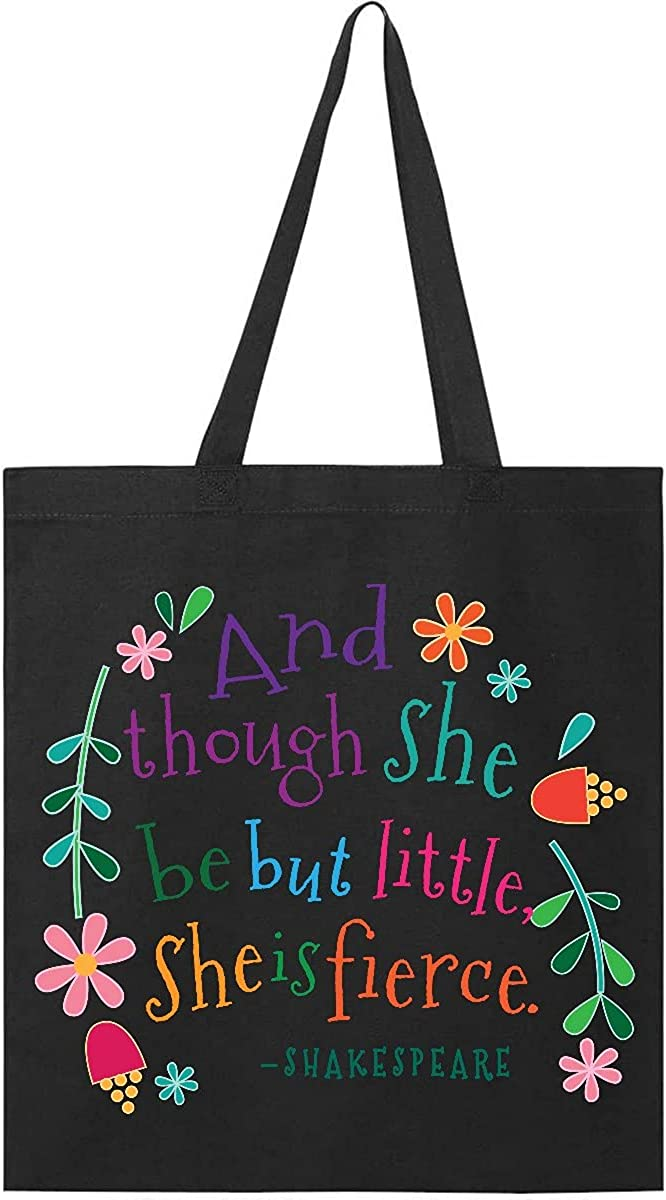 Inktastic She Is Fierce Funny Shakespeare Quote Gift Tote Bag