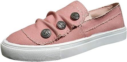 riou Zapatos de Mujer Zapatillas Respirable Mocasines Deportes Casual Denim Zapatos de Lona Arrugas de Fondo Plano Sandalias Antideslizantes Fitness Correr Calzado Moda Plataforma