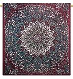 Handicrunch Mandala Indiano arazzo Coperta da Picnic Hippie Bohemian Full Size arazzi 233,7x 208,3cm