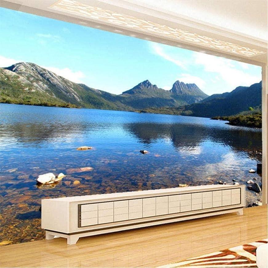 抜粋安いです一杯Ljunj カスタム3D壁画壁紙美しい湖マウンテンストリーム自然風景壁画現代のベッドサイドの家の装飾3Dパネル壁-250X175Cm
