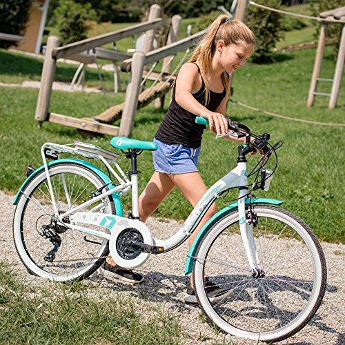 Bergsteiger Atlantis 24 Zoll Kinderfahrrad, geeignet für 8, 9, 10, 11 Jahre, StVZO, Shimano 6 Gang-Schaltung, Mädchen-Fahrrad mit Dynamo-Licht - 5