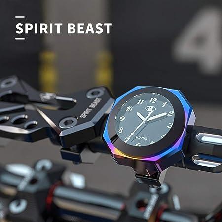 Folconauto Motorrad Fahrradzubehör Lenkerhalterung Watch Wasserdichte Nachtleuchtende Digitaluhr Lenkeruhr Universal Blau Auto