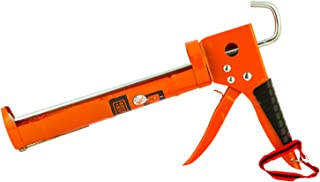 Black+Decker 330mm Steel Half-Open Caulking Gun, Orange/Black - BDHT81570, 2 Years Warranty