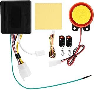 12V Motorcycle Burglar Alarm, Remote Engine Start Anti-Theft Alarm with 2 Remote Control Key Fob