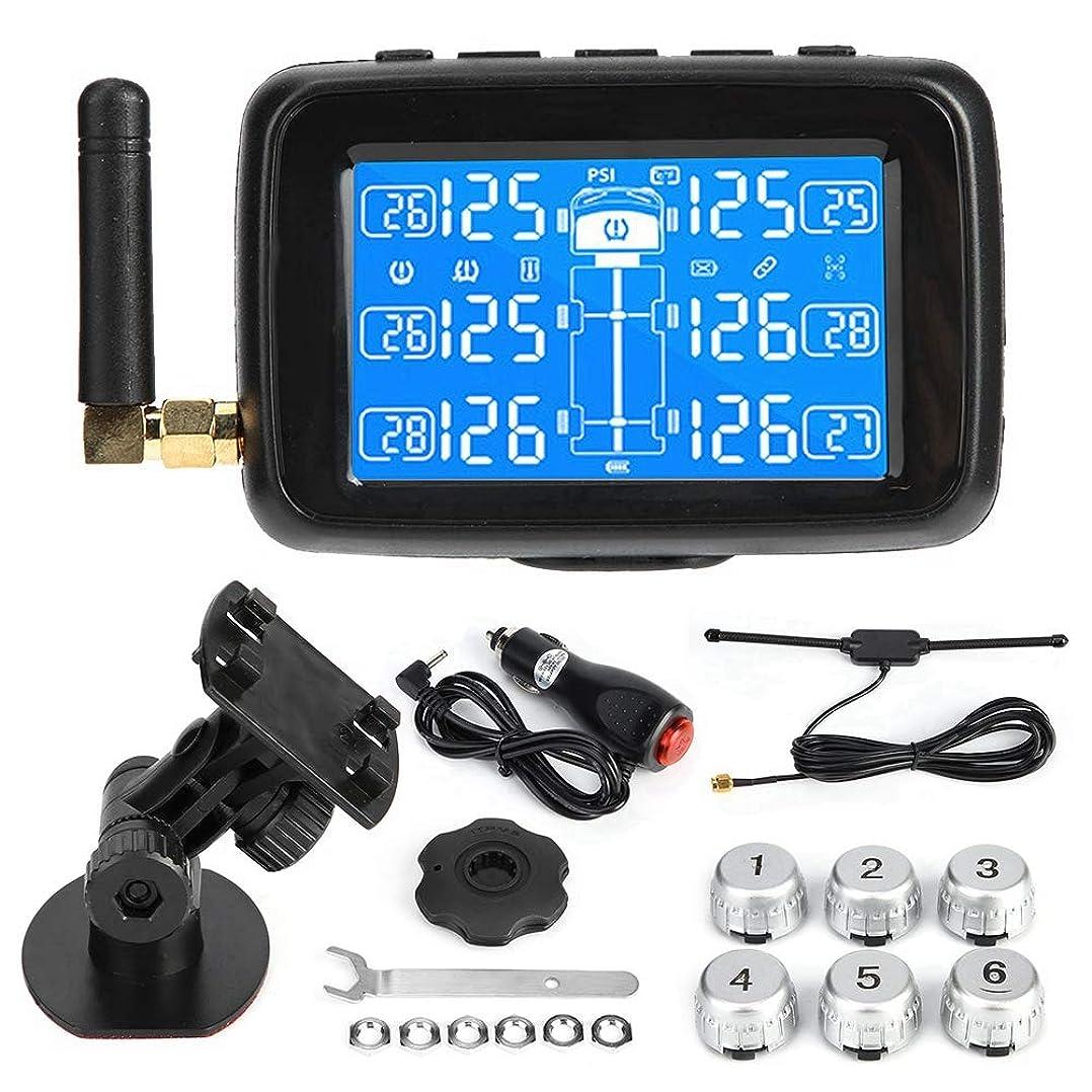 日光クスクス次Aramox タイヤ温度モニター、タイヤ空気圧モニタリング 6つの外的なセンサーTPMSおよびアンテナを使って