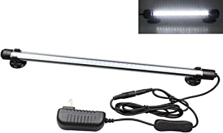 MingDak LED Aquarium Light, Fish Tank Light Under Water Light Submersible Crystal Glass Lights White Light/Blue Light