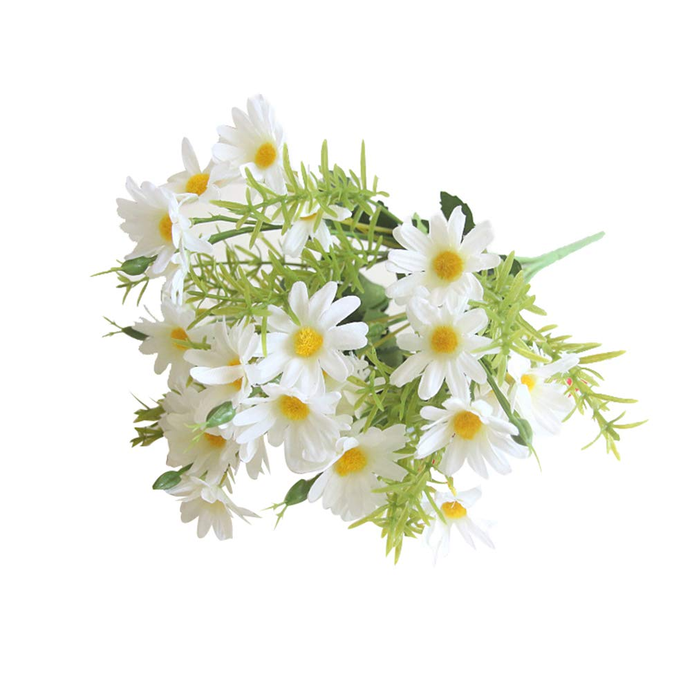 Terrarium Garden Décor Handmade Artificial White Daisy Flower