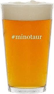 #minotaur - Glass Hashtag 16oz Beer Pint