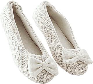 TININNA Zapatillas Mujer Inicio Zapatillas Bowknot Hembra Cachemira Caliente de Las Mujeres Embarazadas Zapatos diseño Ant...