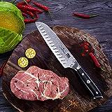 SHAN ZU Damast Santokumesser Kochmesser 67 Schichten Damastmesser Messer mit G10 Griff - PRO Series - 7