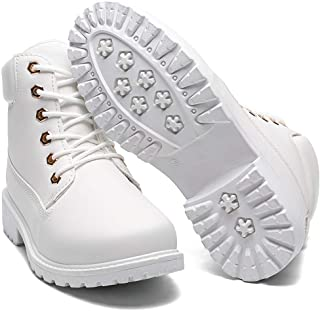 Geddard White Boots For Women Ankle Booties Low Heel Womens Fashion Cute Platform Sneaker Boots Size 7